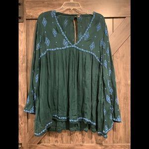 Free people long sleeve blouse